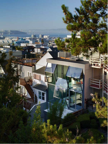 Glass house in san francisco