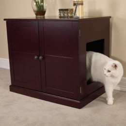 Cat house in end table unit