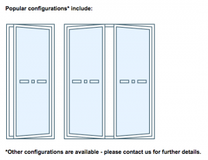 aluminium french door configurations