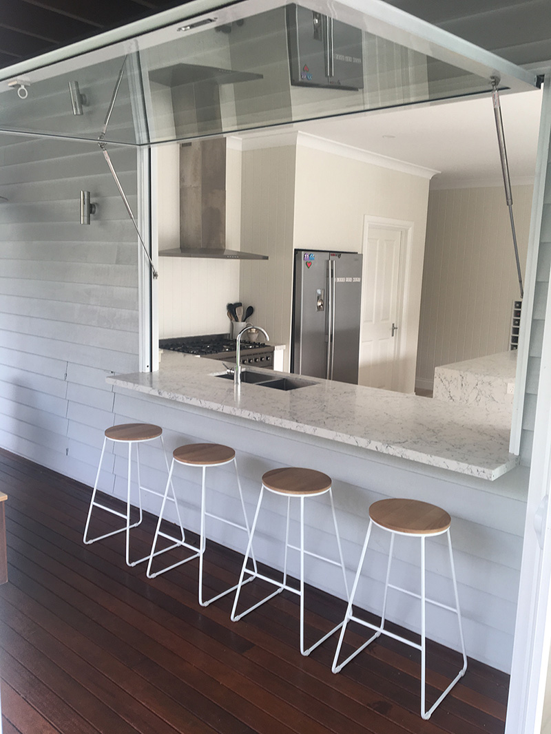 The Gas Strut Servery Window Provides A Unique Option In Lications Around Kitchen They Function Easily Opening With Small Push Struts Of
