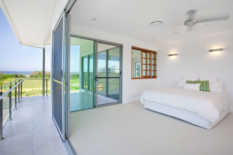 Sliding door bedroom